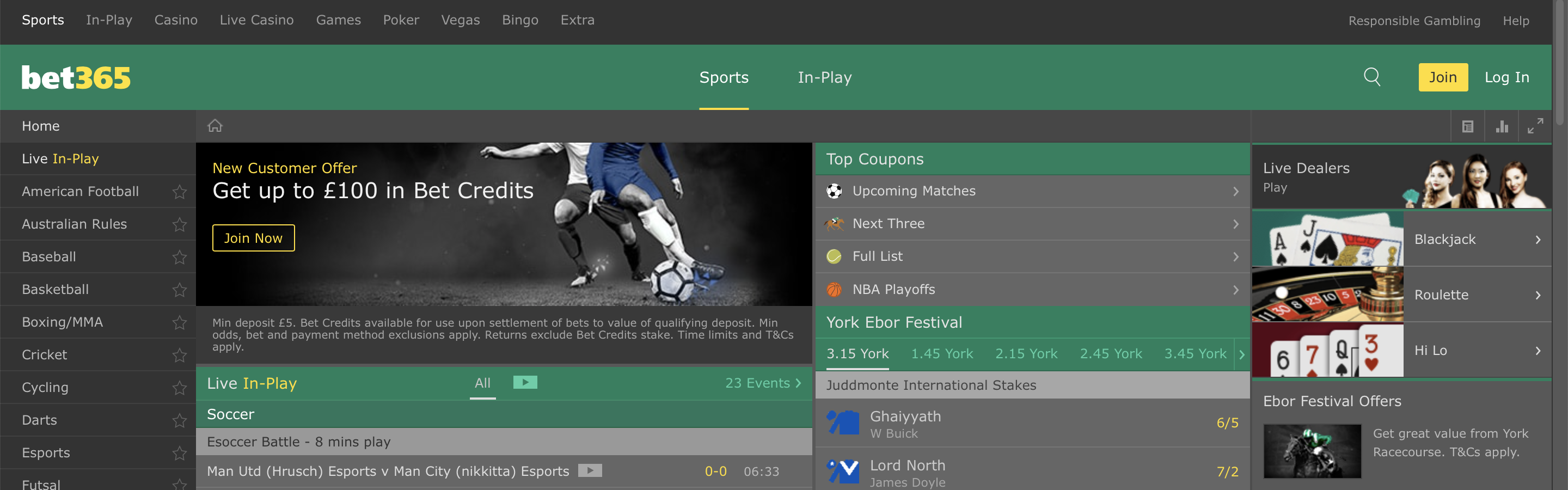 Bet365 UK Betting Site