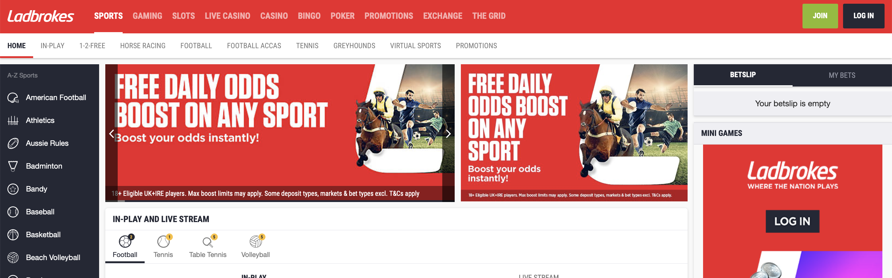 Ladbrokes UK Betting Site