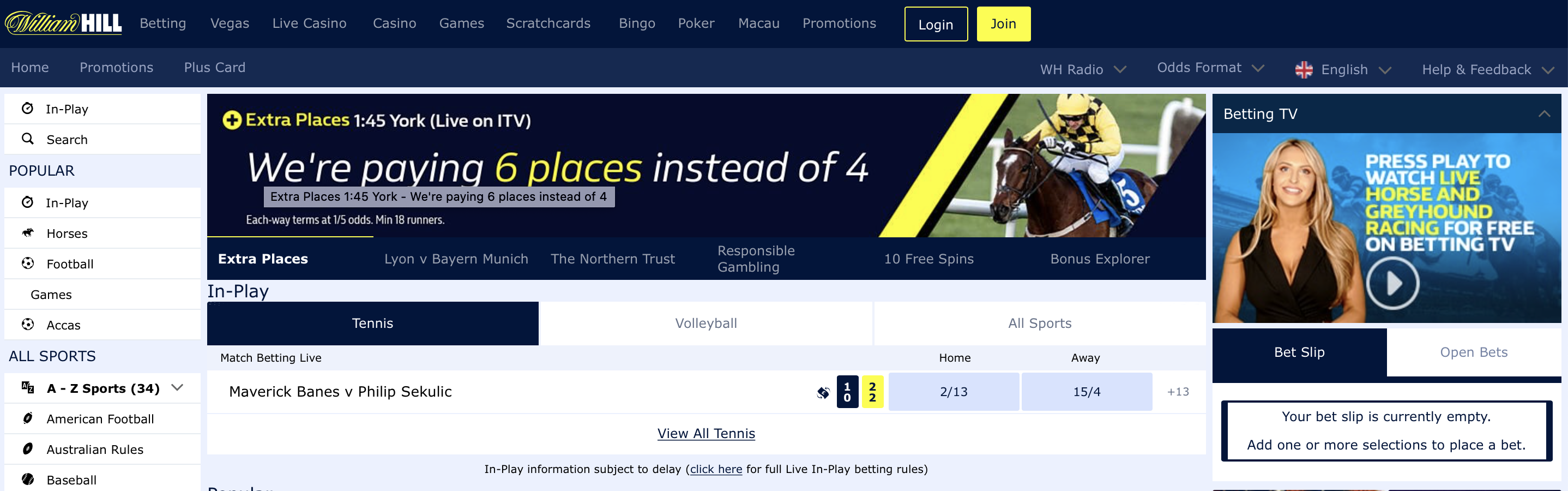 William Hill UK Betting Site